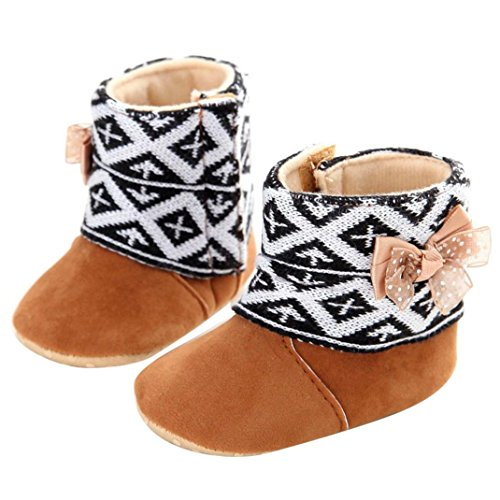 Baby Shoes,Shien(TM)Baby Toddler Infant Girl Snow Boots Soft Sole prewalker Crib Shoes (Age:0~6 Month)