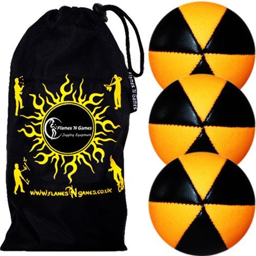 Flames-N-Games-ASTRIX-UV-Thud-Juggling-Balls-set-of-3-BLACKORANGE-Pro-6-Panel-Leather-Juggling-Ball-Set-Travel-Bag