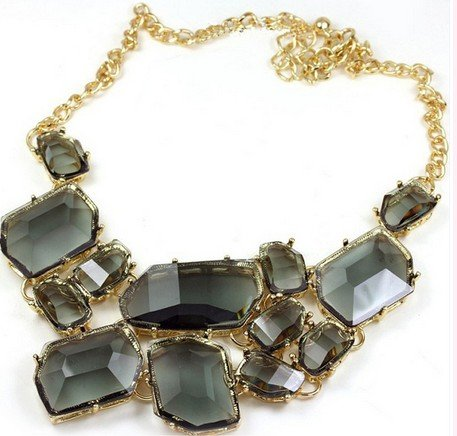 Wiipu Freeform bubble Bib Necklace Statement Fashion Necklace(wp-15)