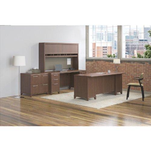 Bush business furniture enterprise double pedestal desk 72 by 30 inch harvest cherry - Bush furniture parts ...