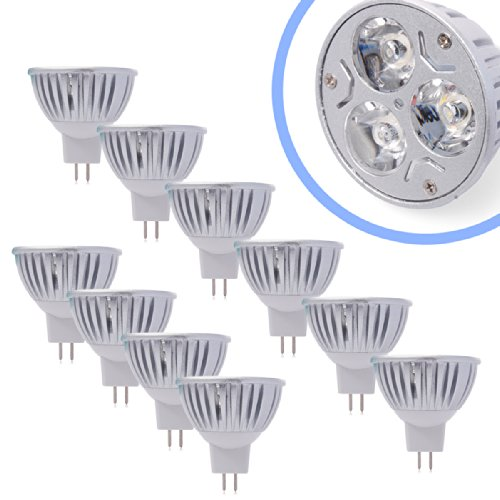 Xcsource® 10X Mr16 3W Led Bulb Socket Bulb Spotlight Spot Light Bulb Warm White Light Energy Saving Lamp Dc12V Ld279B
