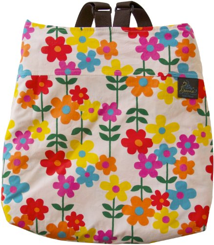Sky Dreams Travel Blanket Kaianna Flower Power Orange Backpack front-647927