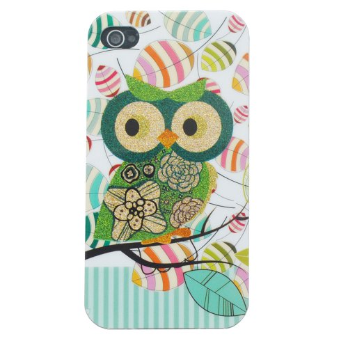 Meaci Apple Iphone 5 5S Case Soft Smooth Tpu Material With Classic& Unique Owl Glitter Shimmering Bling Powder Pattern (Owl-Iv)