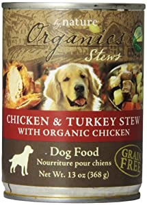 BY NATURE 392106 12-Pack Organic Chicken and Turkey Stew Food for Dogs, 13-Ounce