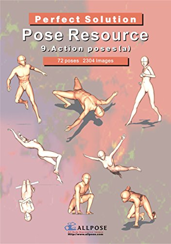 [Allpose Book] 9_Action poses(a) (for comic,cartoon,manga,anime,illustration human body pose drawing techniques.) (Allpose Book Drawing Pos