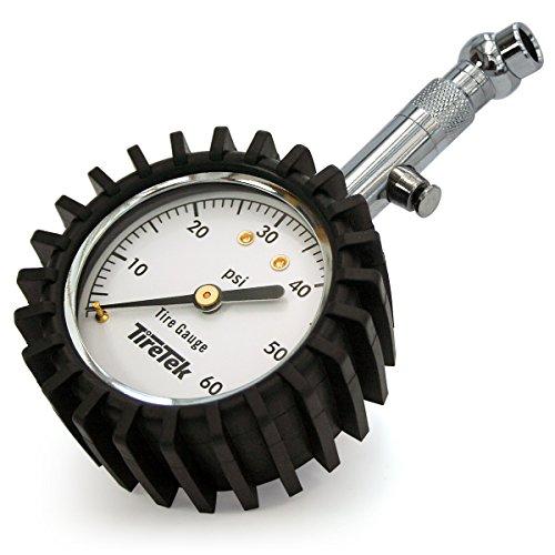TireTek Premium Tire Pressure Gauge With Integrated Hold Valve - 60PSI (Air Pressure Gauge Tire compare prices)