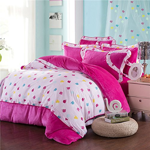 Coral Duvet Cover Queen front-1030607
