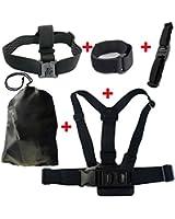 JMT Épaule & tête & casque sangle ceinture Mont + Wifi Velcro poignet bande W / sac de rangement pour GoPro Hero 3 2