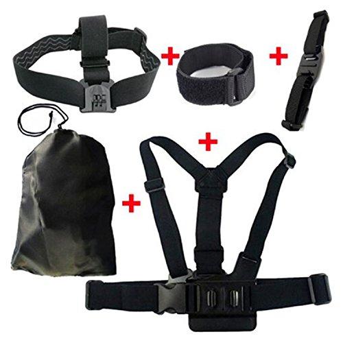 XT-XINTE Épaule & tête & casque sangle ceinture Mont + Wifi poignet bande W / sac de rangement pour GoPro Hero 3 2