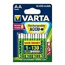 Varta - Pile Rechargeable - 2100 mAh - AA x 4 - Longlife (LR6)