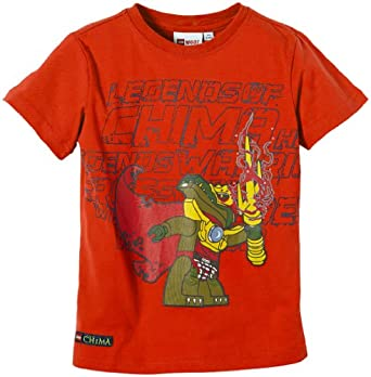 LEGO Wear T-shirt  Col ras du cou Manches courtes Garon - Orange - Orange (267 ORANGE) - FR : 4 ans (Taille fabricant : 104)
