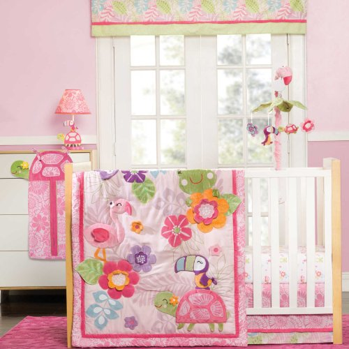 Carter's 4 Piece Crib Set, Tropical Garden (Discontinued by Manufacturer) - 1