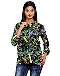 AVNIKA Women's Shirt (AVN20_Black Yellow_Small)