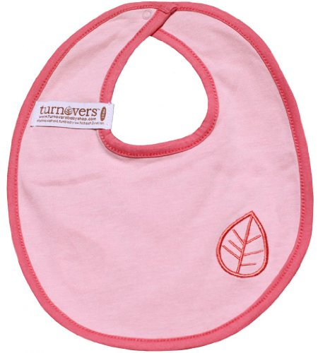 Turnovers Reversible Girls Snap Bib One Size Purple/LtPink/DkPink