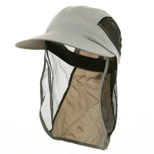 UV 50+ Protection Outdoor Flap Cap - Light Grey W15S49C