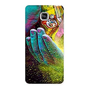 Enticing Hands and Colors Back Case Cover for Galaxy A7 2016