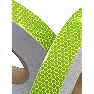 Hi Viz Fluorescent Grade Lime Reflective Tape 50mm X 2.5M