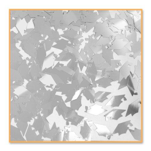 Beistle CN017  Grad Caps Confetti, Silver