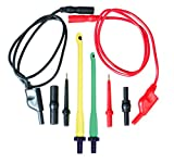 """This lead set kit contains 10 gauge current carrying leads with standard 4mm banana jack adapters for use with all testers, meters and diagnostic equipment. This kit includes: 2x 3 ft. 10 gauge test leads, large & small piercing probes,2x  3"""" probe tips, M/M & F/F adapters."""