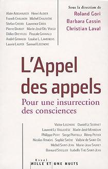 L'Appel des appels : Pour une insurrection des consciences par Gori