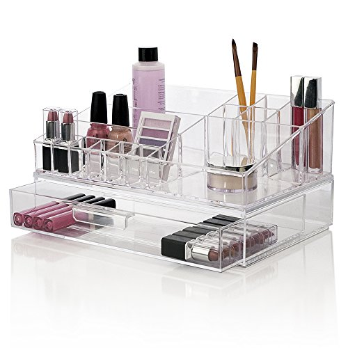 Premium Quality Cosmetic Storage and Makeup Palette Organizer with 1 Drawer | Audrey Collection (Removable Acrylic Drawers compare prices)