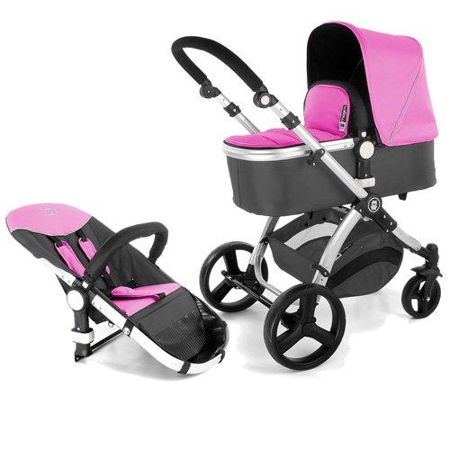 Froggy passeggino carrozzina combi MAGICA 2 in1 passeggino rosa in alluminio