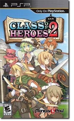 Class of Heroes 2 - PSP UMD VERSION - RARE - REGION FREE