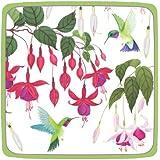 Entertaining with Caspari Hummingbirds Paper Square Salad/Dessert Plates, Pack of 8