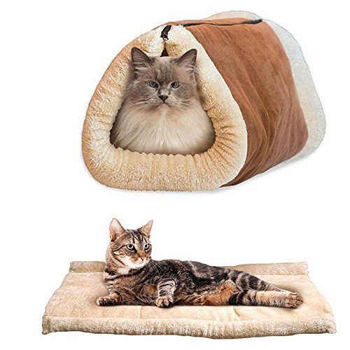 LPET Soft Cozy Cat Sleeping Bag Mat Catwalk Kitten Cave Bed Pad Warm Dog House Cover (Cat Sleeping Pad compare prices)