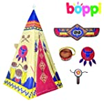 Childrens Kids Canvas Effect Teepee P...