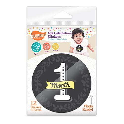 Ulubulu Chalkboard Age Celebration Stickers