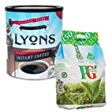 Lyons 750g Rich Roast Coffee + PG Tips 1150 Tea Bags MULTI-PACK SPECIAL