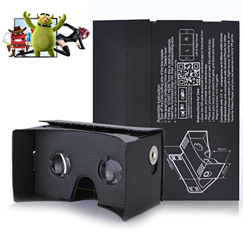 Cheapest Prices! Kollea Google Cardboard Virtual Reality 3D Glasses DIY Kit - Easy Setup