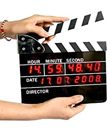 Retro Large Size Directors Edition Alarm Clock / Clapper Board Clapperboard Table Clock