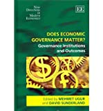 img - for [(Does Economic Governance Matter?: Governance Institutions and Outcomes )] [Author: Mehmet Ugur] [Oct-2011] book / textbook / text book