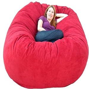 cozy sack 6 feet bean bag chair large cinnabar kitchen dining. Black Bedroom Furniture Sets. Home Design Ideas