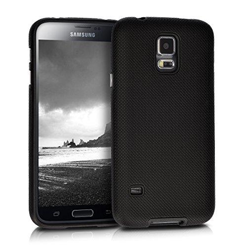 kalibri-Armor-Hlle-fr-Samsung-Galaxy-S5-S5-Neo-TPU-Silikon-und-Kunststoff-Case-in-Schwarz