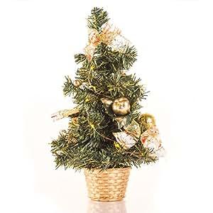 Árbol de Navidad LED Pequeño con Adornos - - Amazon.com