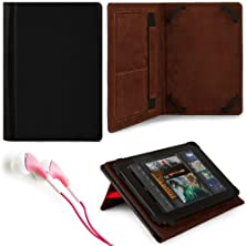 "buy Marry Edition Vg Brand Folio Stand Alone Protective Leatherette Carrying Case Cover Case Cover-Black For Htc Flyer / Htc Evo View 4G / Blackberry Playbook 7"" Tablet / Google Nexus 7 / Lenovo Ideapad A1 / Samsung Galaxy Tab 7.0 / Samsung Galaxy Tab 7.0 Plu"