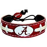 GameWear Alabama Crimson Tide A Logo Team Color Football Bracelet