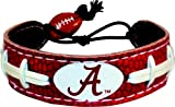 Alabama Crimson Tide A Logo Team Color Football Bracelet at Amazon.com
