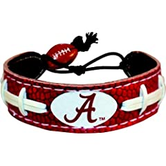 Buy Alabama Crimson Tide A Logo Team Color Football Bracelet by GameWear