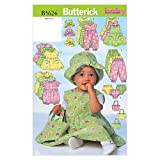 Butterick Patterns B5624 Infants' Dress, Jumper, Romper, Jumpsuit, Panties, Hat and Bag, Size LRG (L-XL)