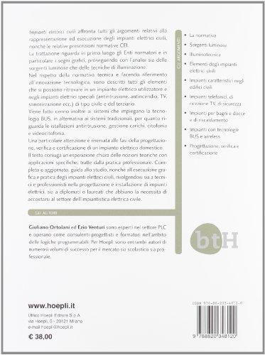 Libro impianti elettrici civili schemi e apparecchi nei for Nei progetti domestici di terra