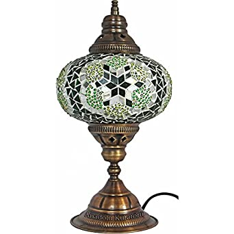 Moroccan glass lamp