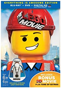 The LEGO Movie: Everything is Awesome Edition (Blu-ray + DVD + UltraViolet Digital HD + Vitruvius minifigure + Collectible 3D Emmet photo + Bonus 3D movie) by Warner Home Video