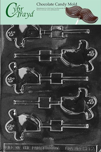 Cybrtrayd H064 Halloween Chocolate Candy Mold, Spooky Ghost Lolly