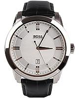 Hugo Boss - 1512766 - Montre Homme - Quartz Analogique - Cadran - Bracelet Cuir Noir