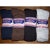 Diabetic Socks 10-13 Mens CREW LENGTH,Physicians Choice,12 Pair,4 assorted Colors