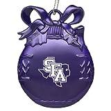 Stephen F. Austin State University - Pewter Christmas Tree Ornament - Purple